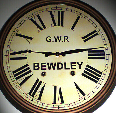 Great Western Railway GWR Victorian Style Clock, Bewdley Station