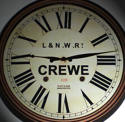 L&NWR London & North Western Railway, Station Wall Clock, Crewe Station