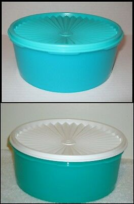 Tupperware Servalier Round Stacking Cookie Canister Keeper 8-Cup Container Pick