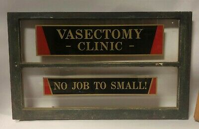 Asylum For The Insane - Vasectomy Clinic No Job To Small Antique Old Window