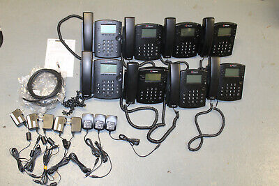 Lot of 10 Polycom VVX 300 IP Business Media PoE Phones With Handsets and Stands