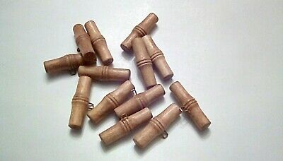 13 wooden Bamboo Style Toggle Buttons