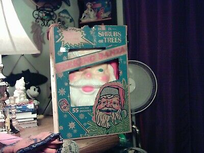 VINTAGE 1960's EMPIRE SANTA CLAUSE FACE CHRISTMAS HOLIDAY BLOW MOLD LIGHT IN BOX