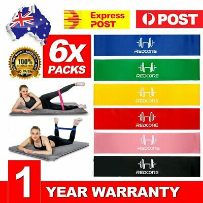 Professional Resistance Bands For GYM Fitness Strength Yoga Exercise AU