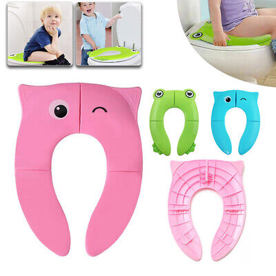 Travel Portable Folding Potty Training Toilet Seat Cover Babies Toddlers Kids UK