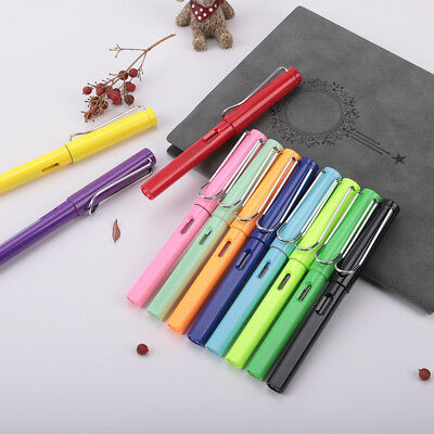 US_ 0.38mm Student Calligraphy Practice Smooth Writing Plastic Fine Nib Fountain