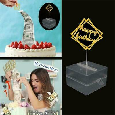 1X Creative Cake Money Props Box Making Surprise Cake ATM Box For Birthday Party