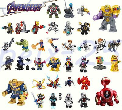 The Avengers Minifigures Superheroes Thanos Iron Man Hulk Building Blocks Lego