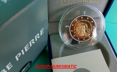 "France 2012 2 Euros Commemorative Be/Pp/Proof "" Abbe Pierre "" Superbe"