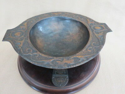 Large Stunning Antique Arts & Crafts Copper Bowl/Quaich And Stand
