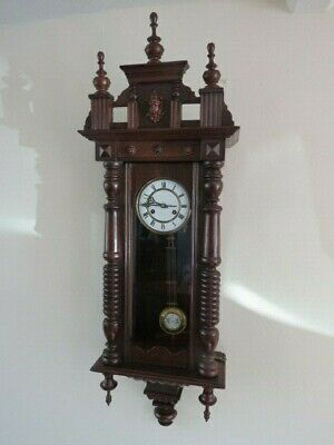 Large Antique 8 Day Spring Driven Vienna Regulator Wall Clock