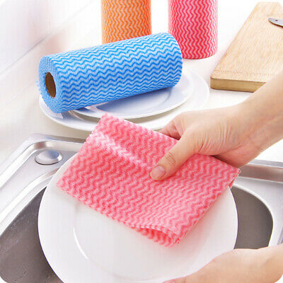 100X Disposable Hygienic Cleaning Cloths Catering Non-Woven J Type 330x350mm