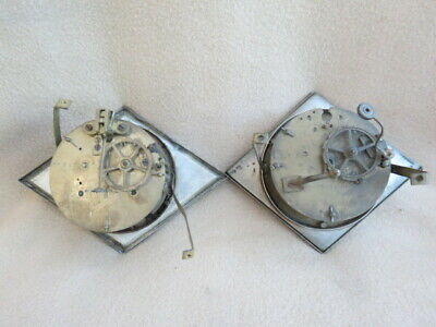X 2 Antique French Striking Clock Movements For Spares Or Repair  (Lot 2)