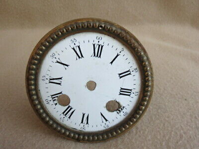 Antique Brass Figural Clock Dial Surround To Fit An Aperture 8.8 Cm