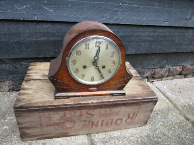 Vintage Art Deco 8 Day Striking Mantel Clock For Tlc