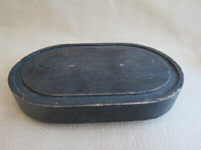 Antique Ebonised Wood Clock Dome Taxidermy Base