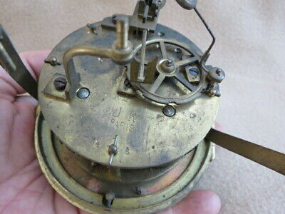 Antique French Jr Pans Striking Clock Movement For Spares Or Repair