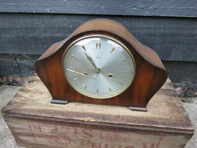 Vintage Smiths Amberley Floating Balance 8 Day Striking Clock For Spares Or Repa