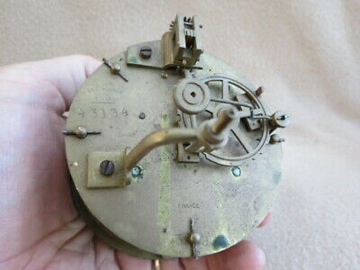 Antique French Fini Paris Striking Clock Movement For Spares Or Repair