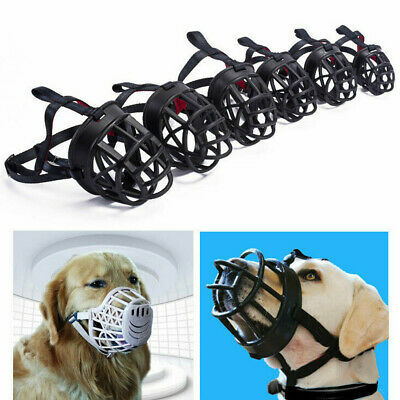 Ultra Adjustable Padded Dog Muzzle Plastic Basket Large Medium All Sizes AAA RO