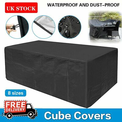Waterproof Garden Patio Furniture Cover Covers Rattan Table Cube Seat Sofa Bench