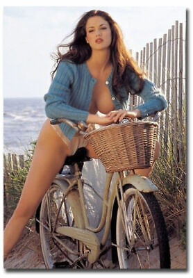 Bicycle Babe Sexy Girl Fridge Toolbox Magnet Size 2.5_x 3.5_123