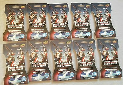 100x Marvel Captain America: Civil War Trading Cards Super Pack