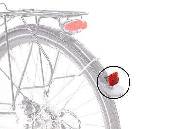 OXFORD SPRINT BICYCLE CYCLE BIKE REAR REFLECTOR WITH BRACKET RED RE834A