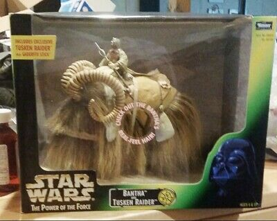 Star Wars Bantha with Tusken Raider Power of the Force 1998 Kenner Action Figure