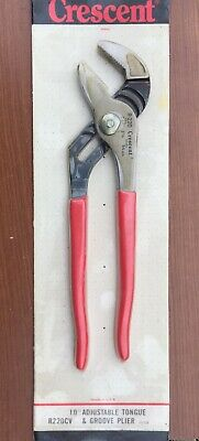CRESCENT No. R220CV - 10 In. Adjustable Tongue & Groove Plier USA New/Old Stock