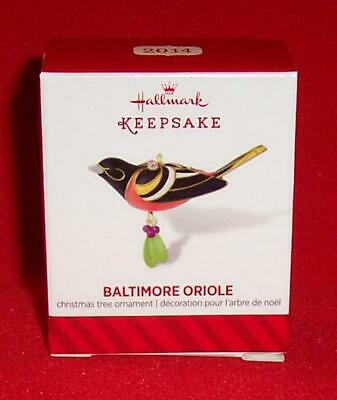 Hallmark 2014 BALTIMORE ORIOLE Beauty of the Birds Miniature Ornament Mini NEW