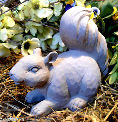 Latex Crouching Squirrel Mold W/ Plastic Backup Plaster Concrete mould