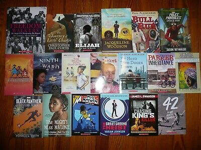 NEW Lot of 19 Black AFRICAN AMERICAN interest CHAPTER BOOKS Fiction & HISTORY