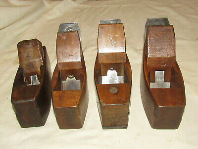 4 antique wooden block planes old woodworking tool planes wood planes