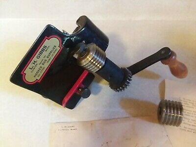 Vtg Rug Rag Cutter Tool Machine L H Gibbs Crafters Cast Hook Sewing Supplies