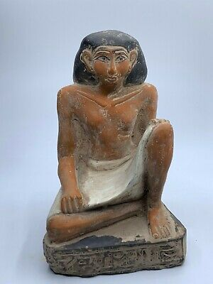 ANCIENT EGYPT EGYPTIAN GOD ANTIQUES Statue Pharaoh Crved Stone BC