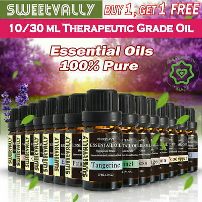 10ml Pure & Natural Essential Oils Aromatherapy Therapeutic Grade - High Purity