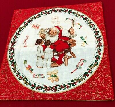 Christmas, Decorative Pillow Casing, Norman Rockwell Design, for 16-inch Pillow