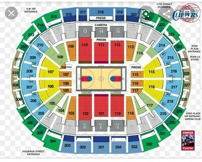 LA Lakers vs. LA Clippers tickets (2) 10/22/19 - opening night sect 217