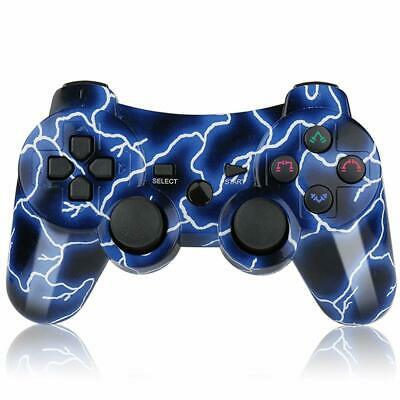 For PS3 Controller Wireless Double Shock Bluetooth Gamepad Gaming Controller
