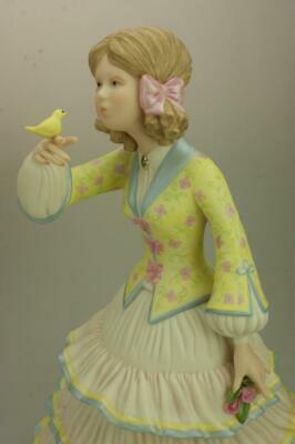 Vintage Cybis USA Jeannie with the Light Brown Hair Hand Painted Figurine