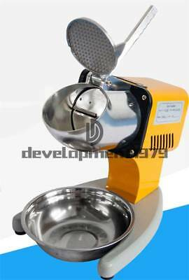 120kg/h Electric Ice Crusher Shaver Machine 200v Snow Cone Maker Shaved Ice