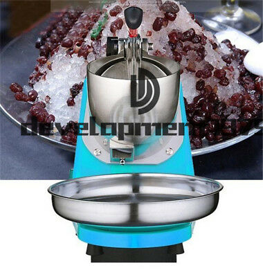 Electric Ice Shaver Machine Shaving Cold Drink Snow Cone Maker Crusher