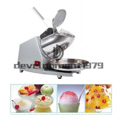 Electric Smoothie Ice Crusher Ice Shaver Machine Electric Snow Cone Maker 220V