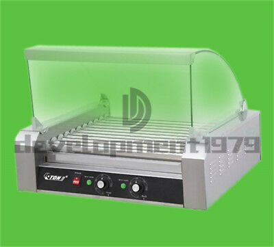 2.2 KW 220V Commercial 11 Roller Hot Dog Grill Cooker Machine