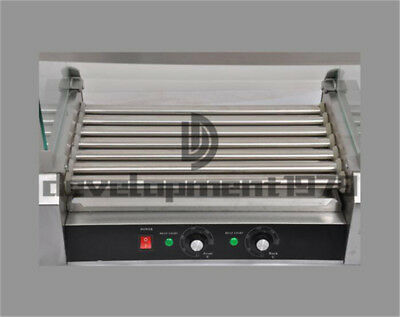 220V 1.4KW Commercial 7 Roller Hot Dog Grill Cooker Machine