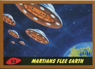 Mars Attacks The Revenge Bronze [25] Base Card #53 Martians Flee Earth