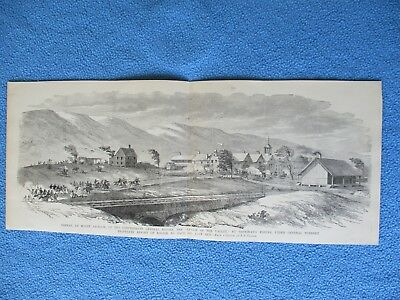1885 Civil War Print - Confederate General Rosser's Defeat at Mount Jackson, VA
