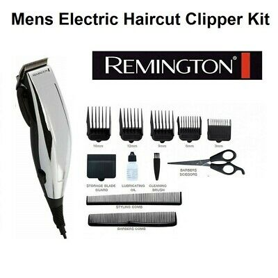 Remington Men Haircut Clipper Trimmer Kit Scissors Combs Guides Corded Electric