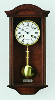 AMS 614/1 - Wall Clock - Walnut - Pendulum Clock - Regulator Clock - New